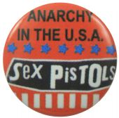 Sex Pistols - 'Anarchy in the USA' Button Badge